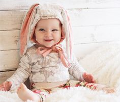 Made to Order // Rabbit Bonnet Made to Order // Konijnenbont Babies R Us, Cute Babies, Baby Kids, Baby Boy, Cute Outfits For Kids, Cute Kids, Little People, Little Ones, Aw17 Trends