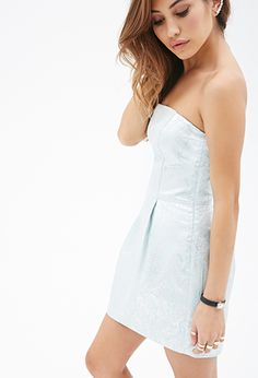 Ornate Metallic Matelassé Dress   FOREVER21 - 2000100363