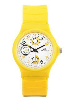 Fr136 Watches. Jam tangan keren warna kuning. Cocok buat koleksi pribadi atau hadiah