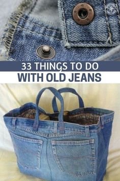 33 Things To Do With Old Jeans - This article is an interesting look at . 33 things to do with Old Jeans – This article is an interesting look at the …, Jean Crafts, Denim Crafts, Diy Fashion, Ideias Fashion, Artisanats Denim, Denim Purse, Bags Travel, Denim Ideas, Clothes Crafts