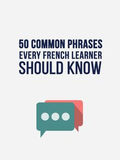 50 Common French Phrases Every French Learner Should Know - FRENCH Learning - Learn 50 Casual, Everyday French Phrases You Oughta Know. French Grammar, French Verbs, English Grammar, French Language Learning, Learn A New Language, German Language, Japanese Language, Spanish Language, Dual Language