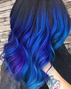 Peach Hair Colors, Cute Hair Colors, Hair Color Purple, Hair Dye Colors, Cool Hair Color, Peacock Hair Color, Exotic Hair Color, Galaxy Hair Color, Purple Wig