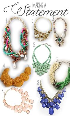 good article on lovely bridal's blog on wearing statement necklaces at your wedding.