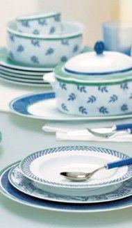 Villeroy boch antique dinner plates burgenland blue - Villeroy boch vajillas ...