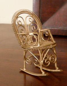 Miniature Gold Filigre Rocker by WhiteShepherd on Etsy, $15.40