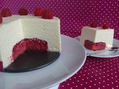 Frambuesa y Caramelo: Tarta mousse de chocolate blanco y frambuesa
