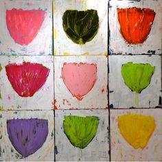 pretty pink tulips: Kerri Rosenthal Art