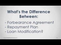 What is the difference between forbearance agreement, repayment plan and loan modification - Find the best way to get real estate leads online