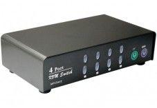 Commutateur KVM  4 VOIES VGA/PS2 AVEC CABLES
