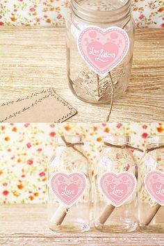 wedding wish. guests can drop their marriage advice into these sweet mason jars during the reception. loveee.