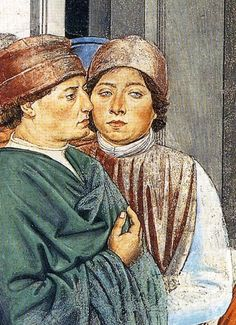 ❤ - BENOZZO GOZZOLI (1421 - 1497) - St. Augustine - St. Augustine at the University of Carthage (detail). 1464-65. Apsidal Chapel of Sant' Agostino, San Gimignano, Italy.
