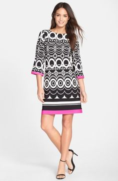 6ab47f02e68 Eliza J Print Jersey A-Line Dress (Petite)