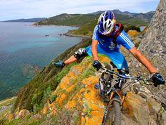 Bike trials in Corsica