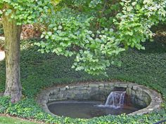 """This has to be the most unusual """"fountain"""" I've ever seen.  And I like it.  It makes one think of a spot to cast spells in."""