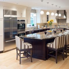 Contemporary L Shaped Kitchen With Pantry Room Island Design Ideas Pictures Remodel And