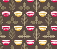 Vintage Pyrex fabric by laurendahl on Spoonflower - custom fabric- kitchen roman shade fabric