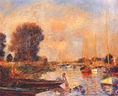 The seine at argenteuil - Pierre-Auguste Renoir  The seine at argenteuil - Pierre-Auguste Renoir, 1888