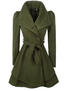 Buy Attractive With Belt Loose Fitting Plain Trench-coats online ...