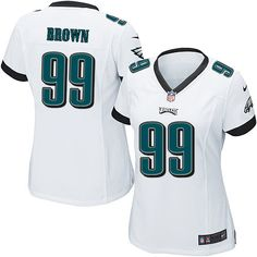 a4c1fd48922 Nike Elite Jerome Brown White Women s Jersey - Philadelphia Eagles  99 NFL  Road