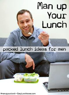 packed lunch ideas for men│man up your lunch │easylunchboxes.com