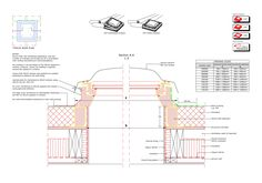 Image 15 of 17 from gallery of 16 CAD Files of Roof Windows and Light Tubes Available for Your Next Project. CVPCFP extension install into timber flat roof © Velux Roof Dome, Cad Library, Cad File, Roof Installation, Thing 1, Roof Window, Roof Plan, Roof Light, Flat Roof