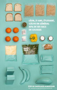Conception d'une campagne d'affiches contre le gaspillage alimentaire pour…