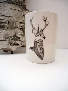 Stag Deer Fabric Handmade Coin Purse Stocking Filler