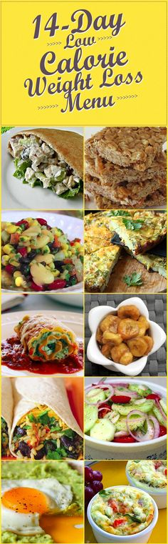 14 Day Low-Calorie Weight Loss Menu @100dayswellness