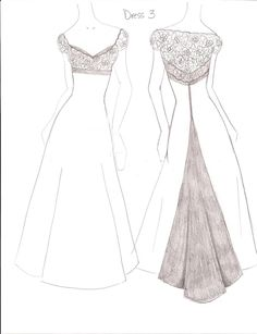 simple dresses designs sketches dress sketches - Dress Design Ideas