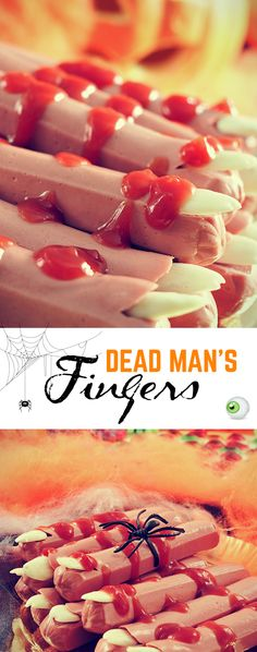 Looks creepy, but tastes delicious! Use Bun Length Bar-S franks and skinless almonds to create this simple Halloween dish. Repin for your chance to WIN free Bar-S!