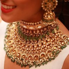 jewels by kishandas & co for sabyasachi Indian Jewelry Sets, Indian Wedding Jewelry, India Jewelry, Ethnic Jewelry, Bridal Jewelry, Gold Jewellery, Indian Bridal, Antique Jewellery, Nath Bridal