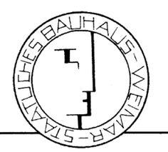 logotipo de la escuela de la bauhaus fundada en por walter gropius es