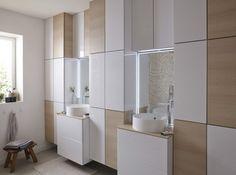 Mur d armoires pour salle de bains