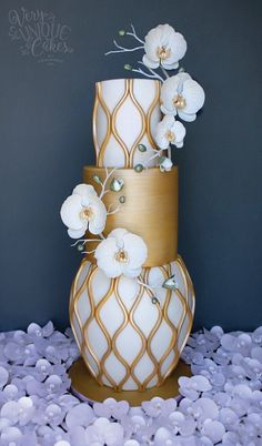 Opulent Orchid Cake