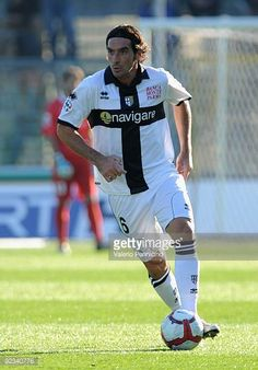Alessandro Lucarelli of Parma FC in action during the Serie A match between Atalanta BC and Parma FC at Stadio Atleti Azzurri d'Italia on October 25...