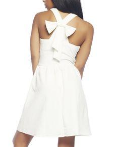 Wet Seal Women's White Halter Skater Dress     #Dress, #Halter, #Seal, #Skater, #White, #Womens