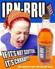 (pronounced iron brew) is a popular carbonated soft drink produced in Scotland where it has been made by A. Barr, of Glasgow for more than a century. Man Cave Pub, Burns Supper, Irn Bru, Best Soda, Whisky Tasting, Green Juice Recipes, Cool Countries, Drinks, Places