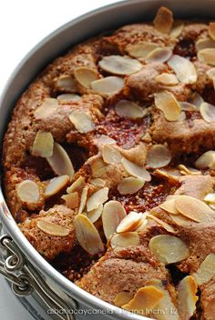 Fig and almond little cake Chesee Cake, Delicious Desserts, Yummy Food, Bunt Cakes, Little Cakes, Nutrition, Gluten Free Recipes, Great Recipes, Bakery