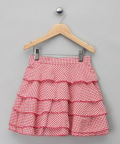 Take a look at this Red Gingham Ophélie Skirt - Infant, Toddler & Girls by La faute à Voltaire on #zulily today!