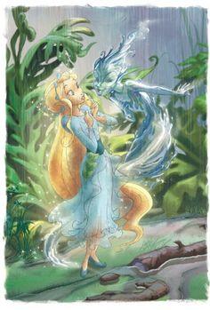 Rani and Dew   Flickr - Photo Sharing! Hades Disney, Tinkerbell And Friends, Tinkerbell Fairies, Disney Concept Art, Disney Fan Art, Princesas Disney Dark, Disney Faries, Pixar, Pixie Hollow