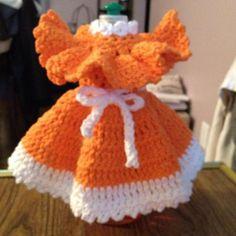 Dish Soap Bottle Dress | Craftsy Link to Pattern crochetnmore.com/dishsoapbottledress.htm