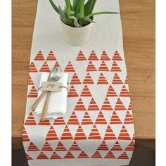 This graphic triangle print is so versatile and can be used all year round but would be a very stylish addition for all the upcoming holidays! The