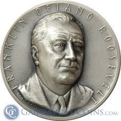 Franklin Delano Roosevelt Presidential Silver Art Medal http://www.gainesvillecoins.com/category/293/silver.aspx