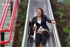 Fun With Subway Commuting: Riders Zip Down Playground Slide to Enter Dutch Metro Station (Video)