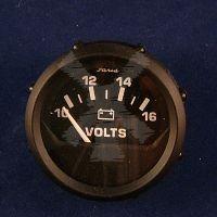 FARIA VOLT METER 10-16V BLACK