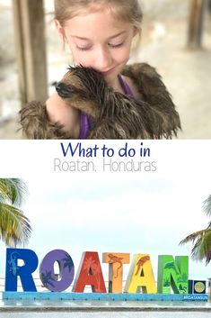 Are you traveling to Roatan, Honduras? I am telling you about our time in Roatan including hugging a sloth and horseback riding in the ocean.