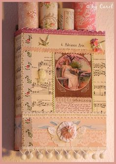 Scrap Book Ideas --nice box to hang on a wall....add some shelfs to put tidbits in... Just Imagine – Daily Dose of Creativity