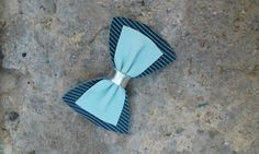 Hair bows Leather bow Retro Bow Handmade by Zozelarium Navy Blue Hair, Blue Hair Bows, Leather Bow, Real Leather, Hair Accessories, Stripes, Retro, Trending Outfits, Unique Jewelry