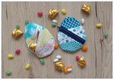 Nähe eine originelle Geschenkverpackung zu Ostern - Ein Patchwork Ei! Dieses süße Täschlein ist schnell genäht und kann nach Ostern weiterverwendet werden.