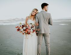Romantic Wedding Portraits at the Salt Flats - Inspired By This
